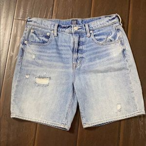 Gap Distressed High Rise Shorts sz 28